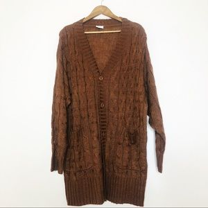 LuLaRoe Lucille Brown Knit button up cardigan New